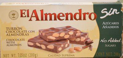 Turròn au Chocolat Sans Sucres Ajoutés - Producto