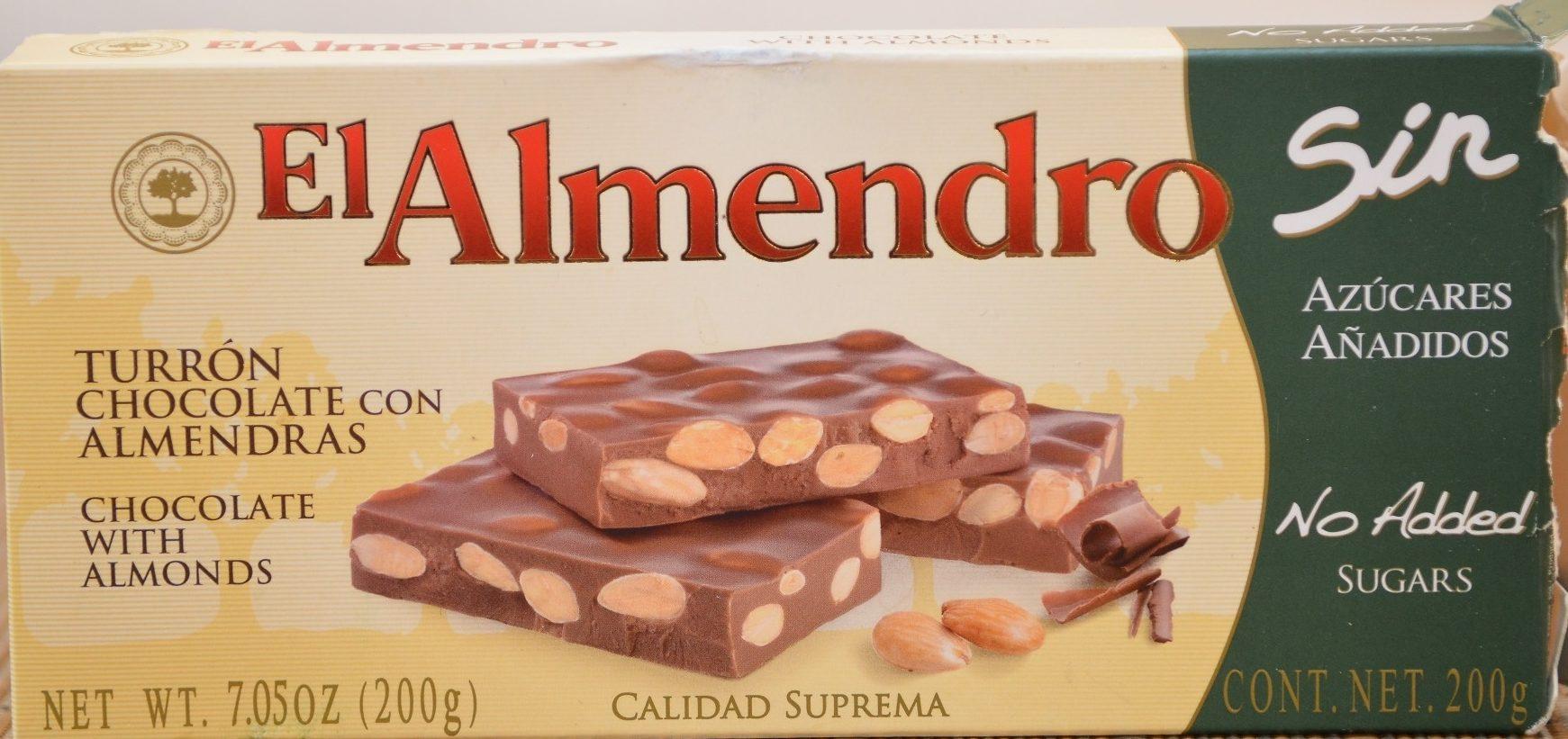 Turrón chocolate con almendras - Producto - fr