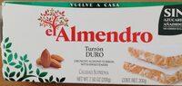 El Almendro Turron Duro Sin Azúcares Añadidos - Producto - fr