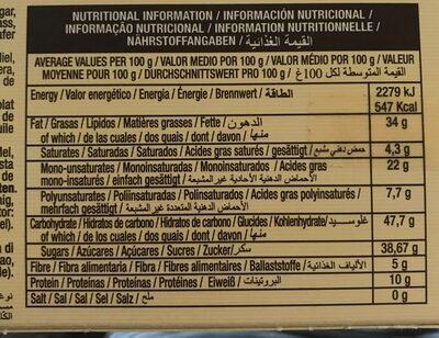 El almendro turrón - Informations nutritionnelles - fr