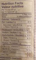 haricots verts coupés - Informations nutritionnelles - fr