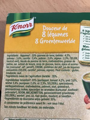 Cup soup knorr - Ingrediënten - fr
