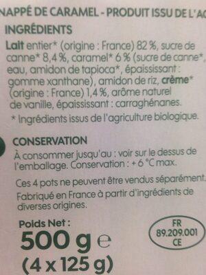 Flan nappe caramel - Ingredients - fr