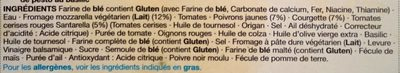 Chargrilled Vegetable & Basil Pesto - Ingredients