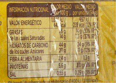 Donuts glacé - Informació nutricional - es