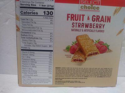 Fruit & Grain Bar - Strawberry - Nutrition facts - en