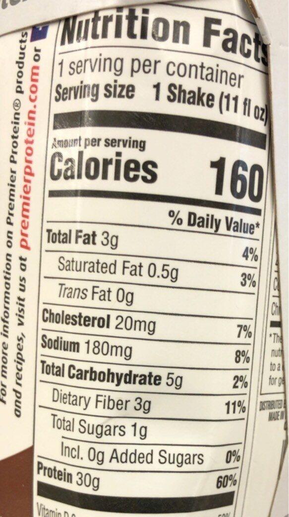 High Protein Shake - Valori nutrizionali - en