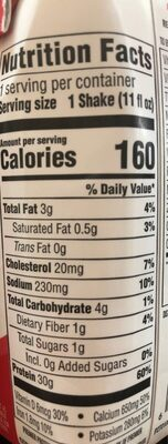 Premier protein strawberries and cream - Nutrition facts