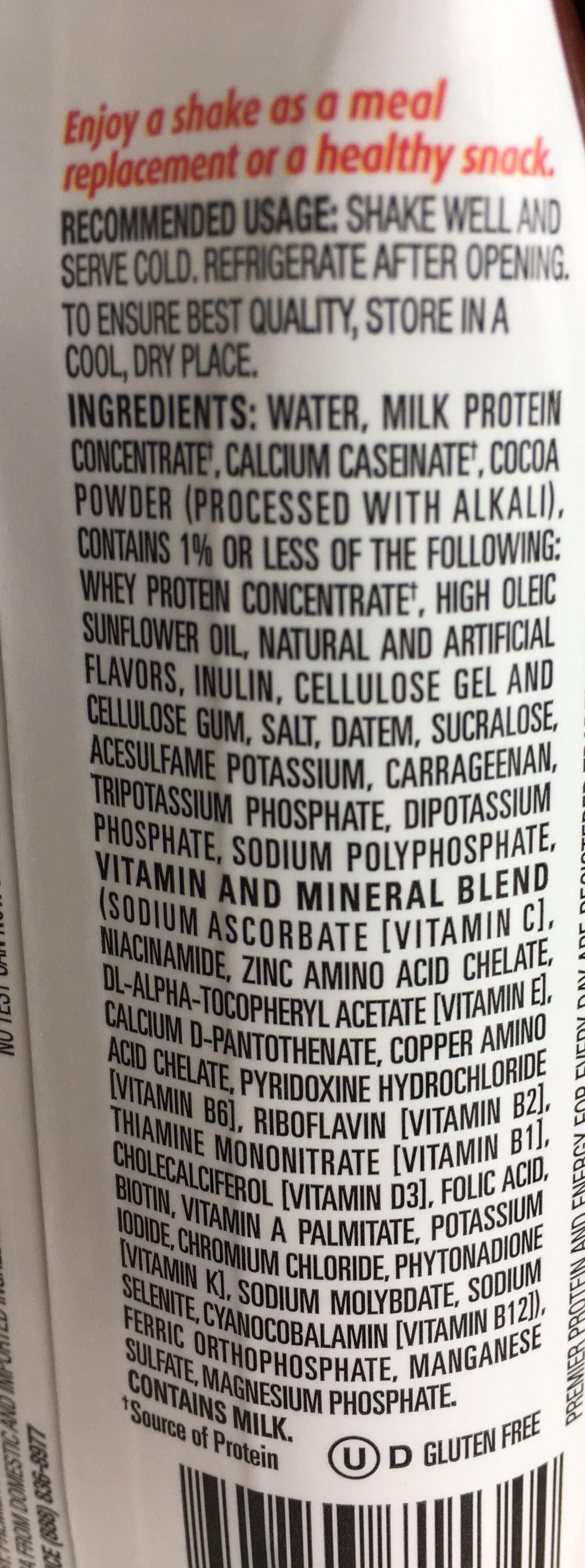 premier protein - Ingredients - en