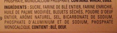 Blueberry muffin mix - Ingrediënten
