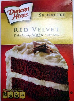 Duncan hines, signature cake mix, red velvet - Product