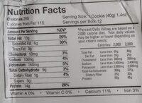 Original cookies & creme protein energy bar - Nutrition facts - en