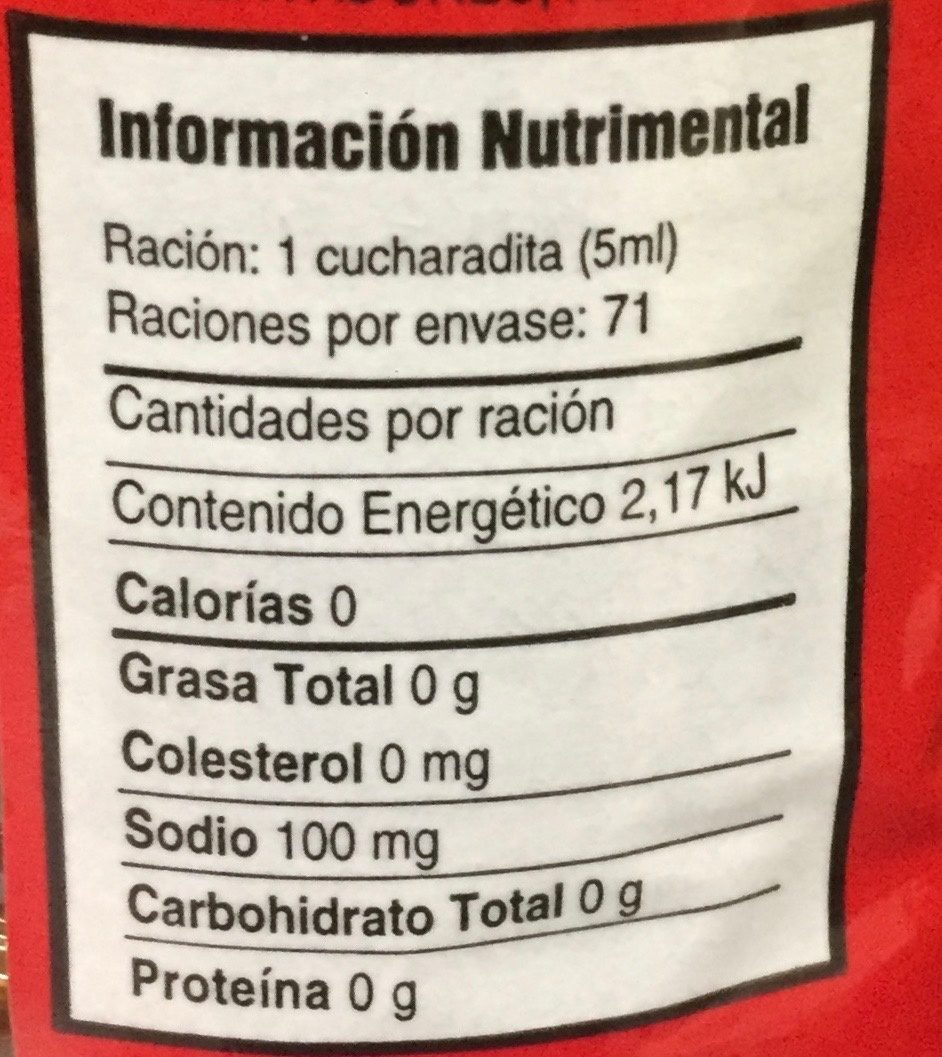 Doña Cuca - Informations nutritionnelles