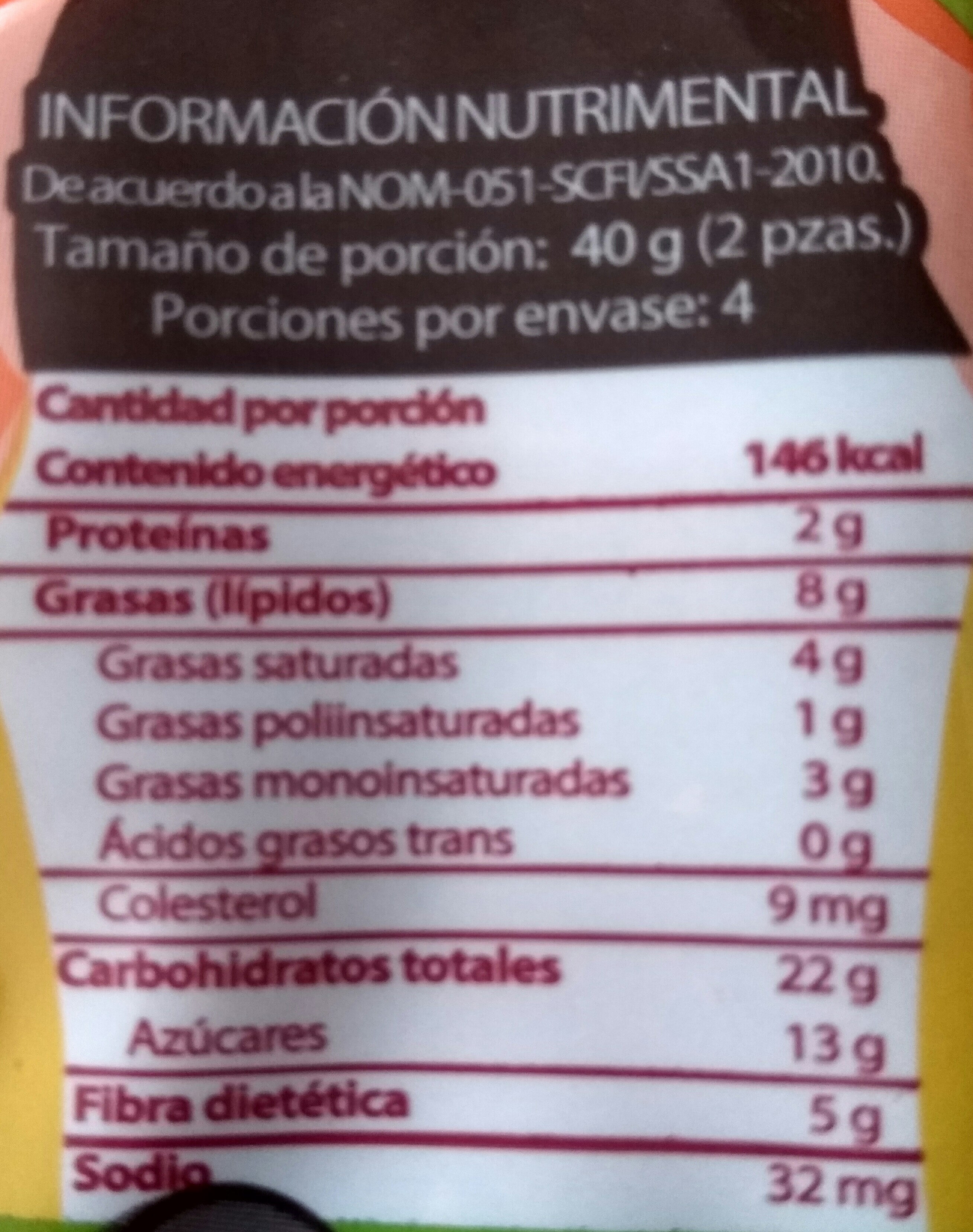 Rueditas - Información nutricional - es
