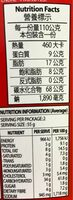 Paldo, king noodle, seafood - Nutrition facts - en