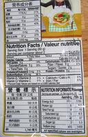 Kokomen - Nutrition facts - en