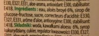 Paldo Aloe - Ingrediënten - fr