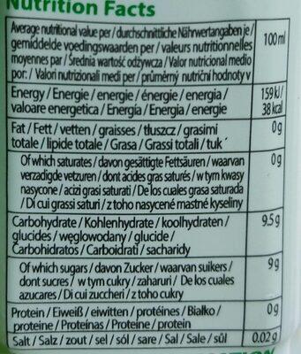 Paldo Aloe - Voedingswaarden - fr