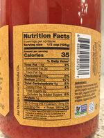 Organic sauce - Nutrition facts - en