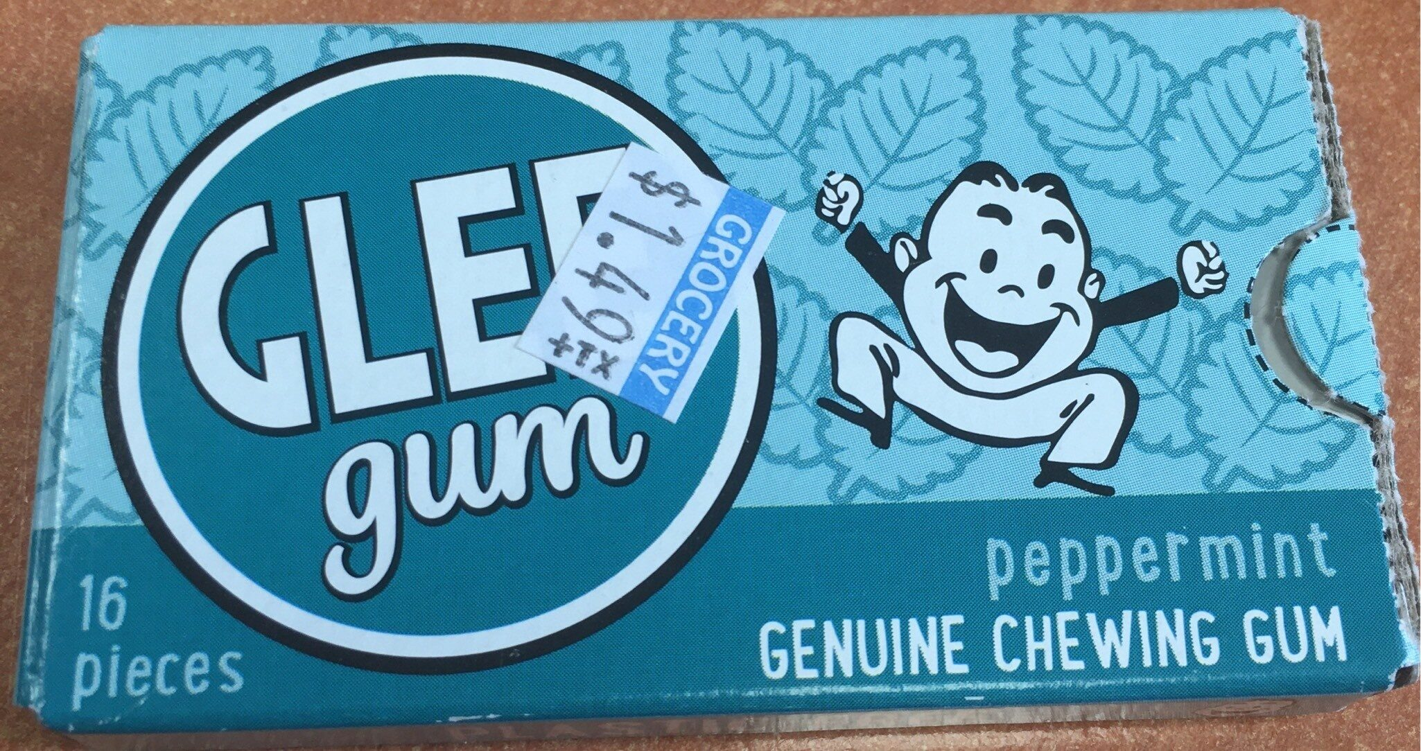 Peppermint Natural Chewing Gum - Product