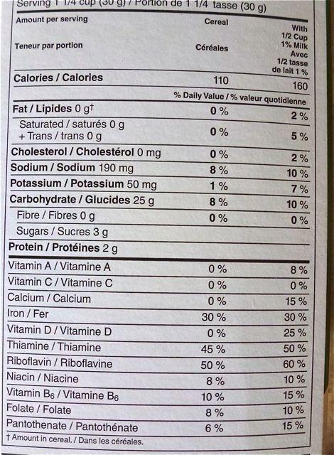 Corn Flakes - Voedingswaarden