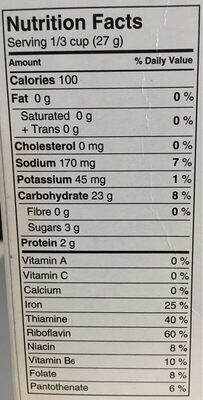 Corn flakes crumbs - Nutrition facts - en