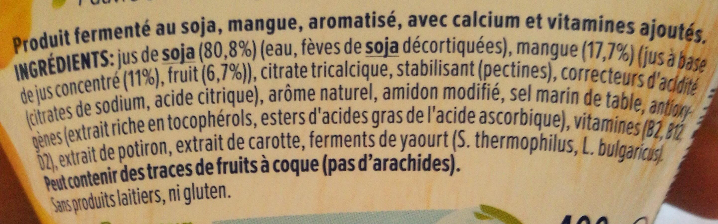 Produit fermenté au soja et à la mangue - Ingredients - fr