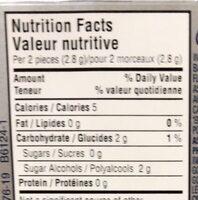 Gum - Nutrition facts - en
