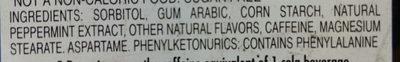 Penguin Caffeinated Mints - Ingredients - en