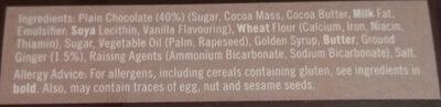 Dark Chocolate Gingers - Ingredients - en