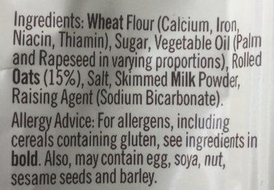 Golden oat crumbles - Ingredients
