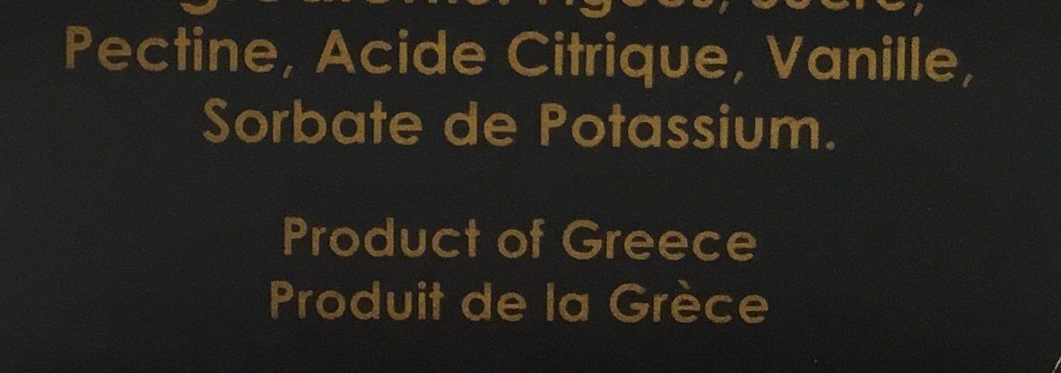 Marmelade aux figues - Ingrédients