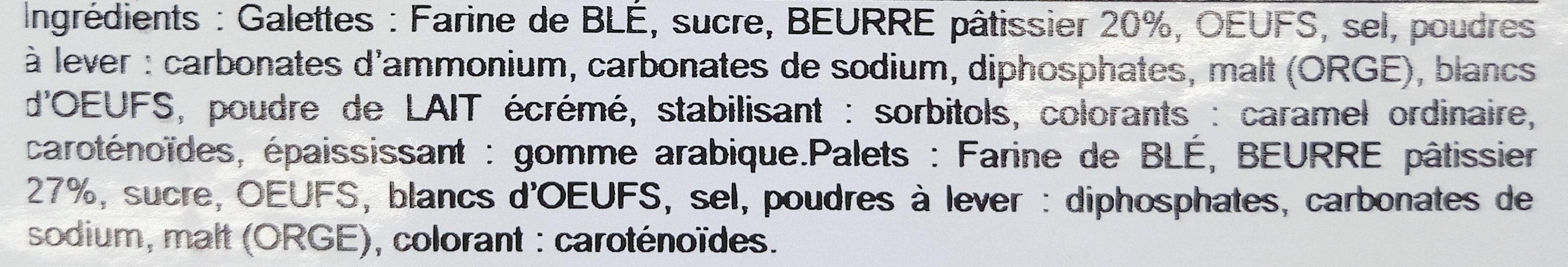 Assortiment Breton Brest Recouvrance - Ingrediënten - fr