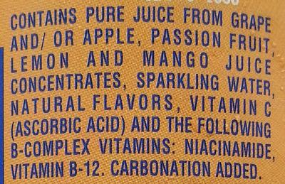 Flavored blended juice beverage - Ingredients - en