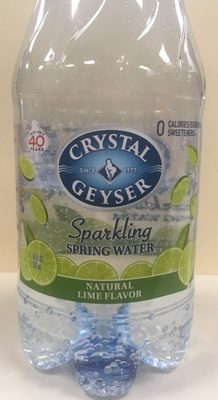 Lime sparkling spring water, lime - Product - en