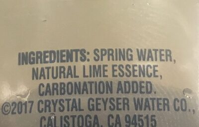 Lime sparkling spring water, lime - Ingredients - en