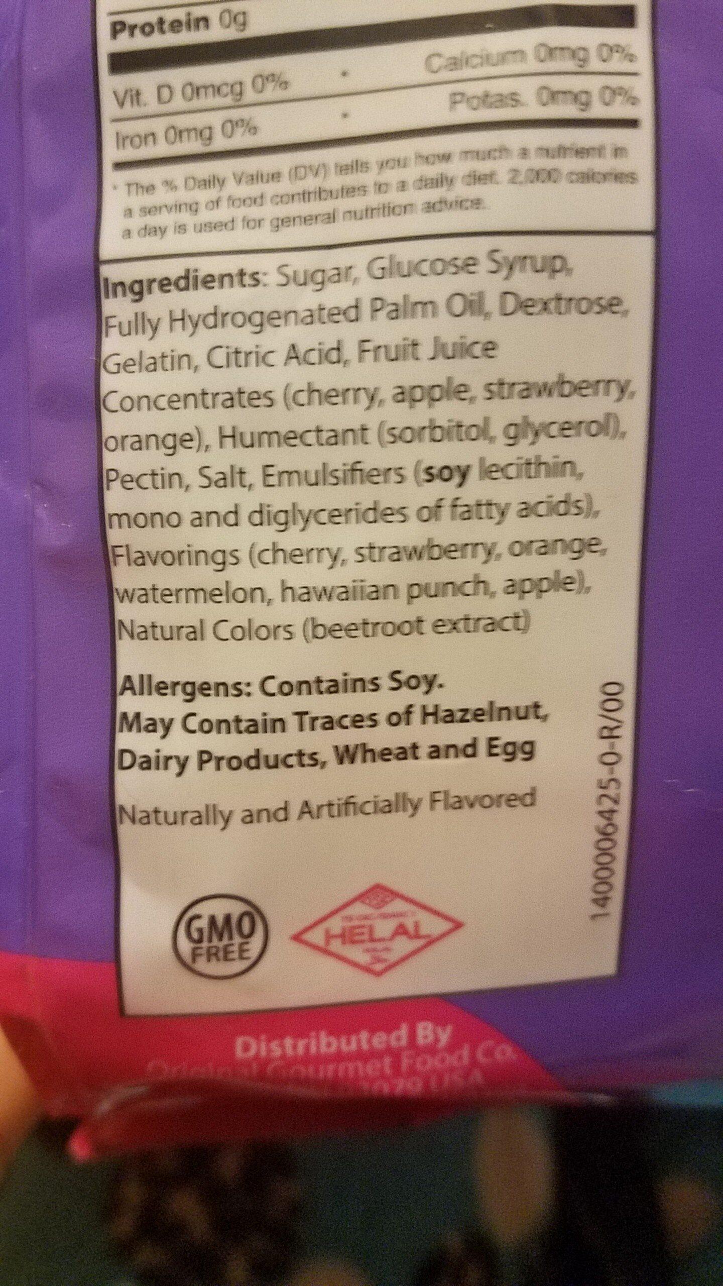 OGO Fruit Chews - Ingrediënten - en