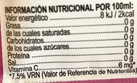 Mix - Nutrition facts