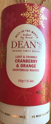 Cranberry & orange shortbread rounds - Product