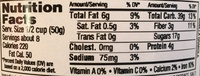 Vanilla Crunch Granola - Nutrition facts