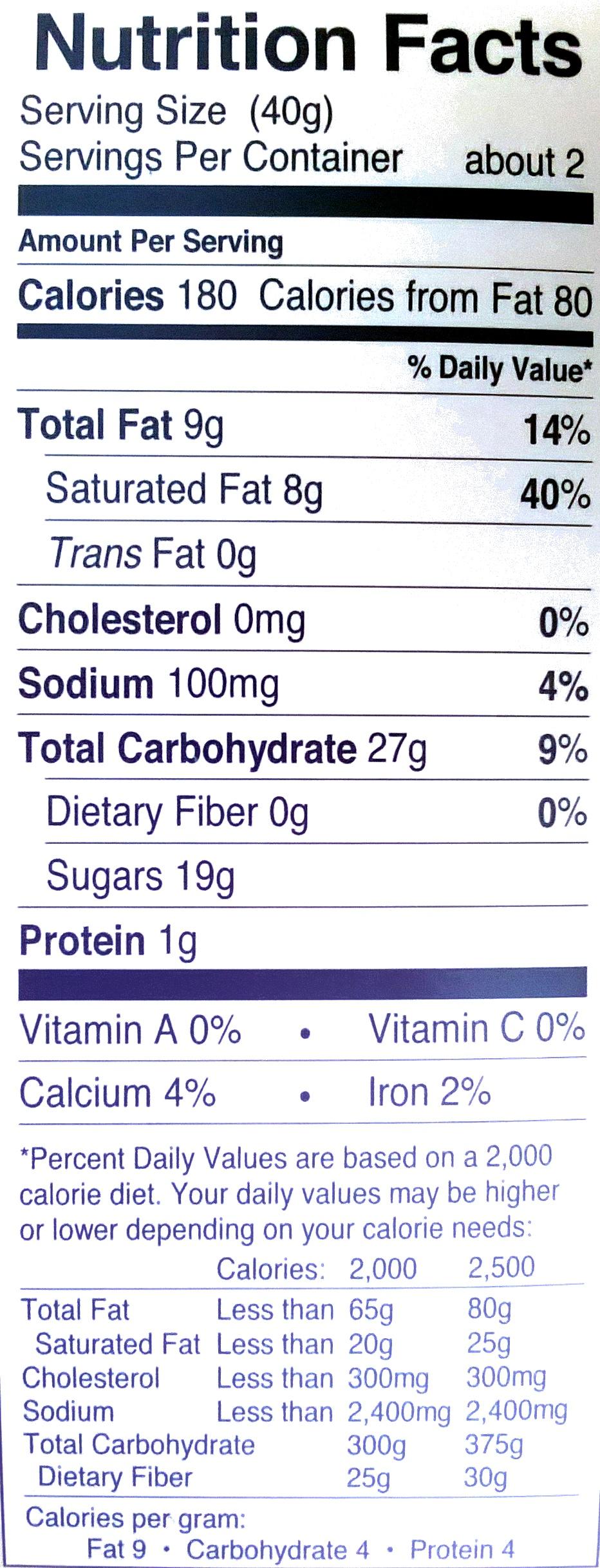 Cinnamon Bun Bites - Nutrition facts - en