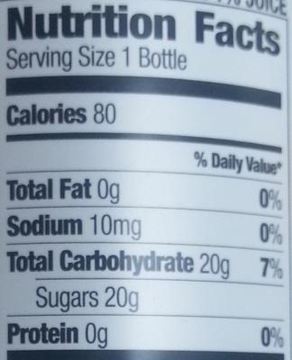 Peach White Tea - Nutrition facts - en
