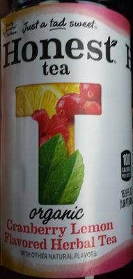 Cranberry Lemon Flavored Herbal Tea - Product
