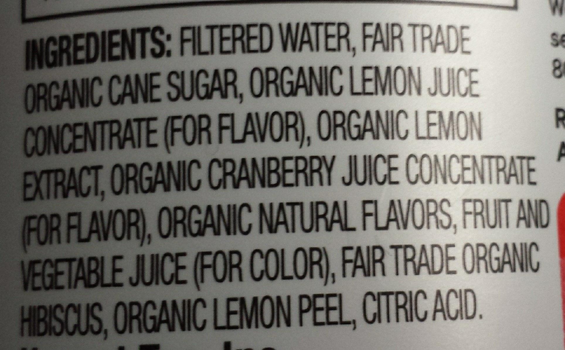 Cranberry Lemon Flavored Herbal Tea - Ingredients