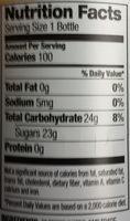 Cranberry Lemon Flavored Herbal Tea - Nutrition facts