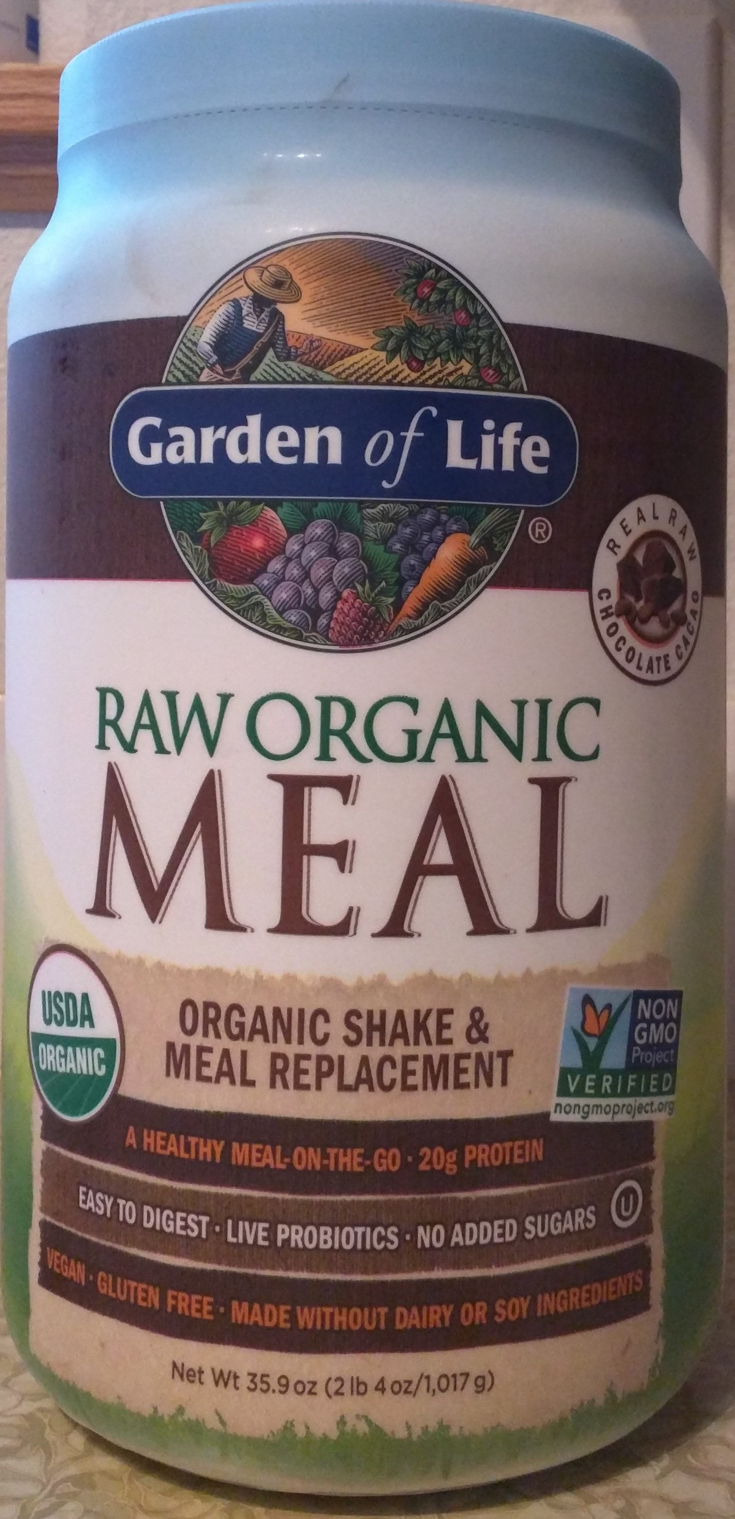 Raw Organic Meal, Chocolate - Product