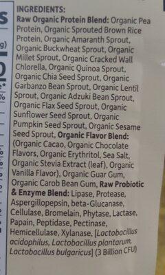 Raw organic protein - Ingredients - en