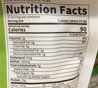 Organic Plant Protein - Nutrition facts - en