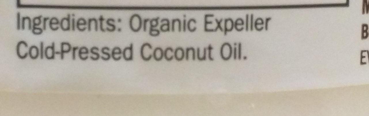 Raw Extra Virgin Coconut Oil - Ingredienti - en