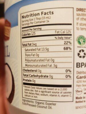 Granden of life - Nutrition facts - en